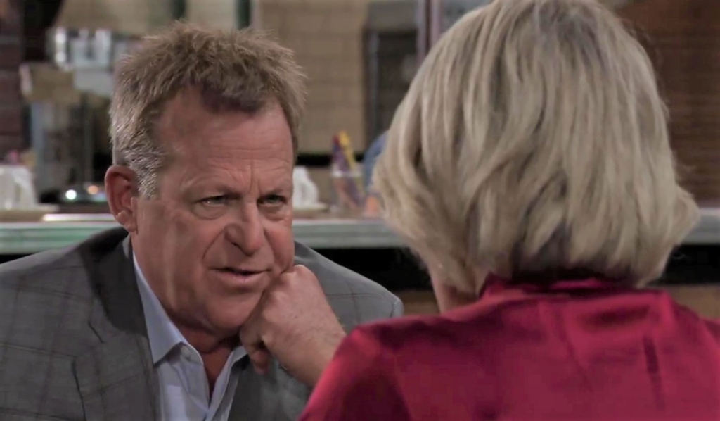 Scott and Ava discuss her divorce at Kelly's General Hospital