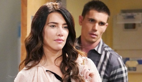 Steffy confront Sheila hospital Finn B&B