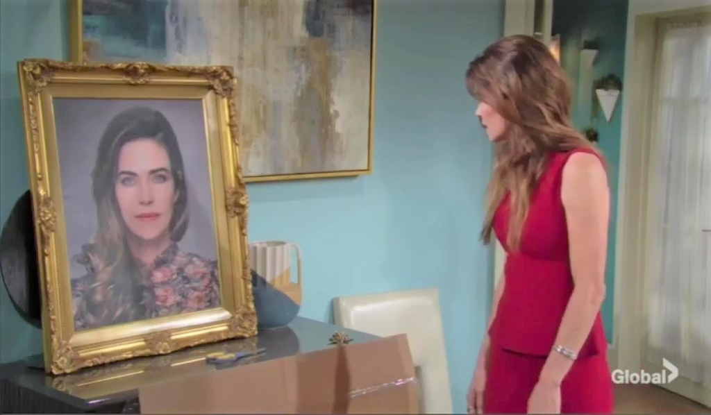 Victoria sees her portrait at home Y&R