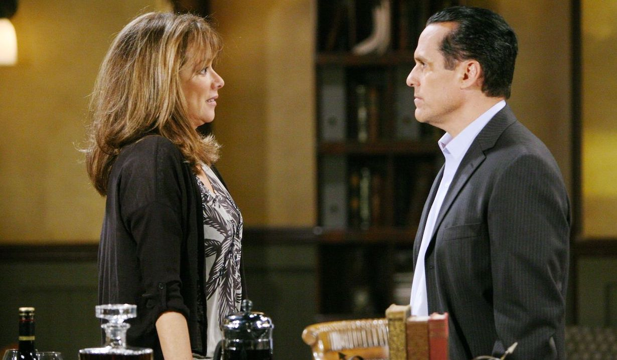 Alexis Davis and Sonny Corinthos on General Hospital