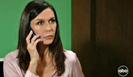 Anna gets a call about Chloe GH