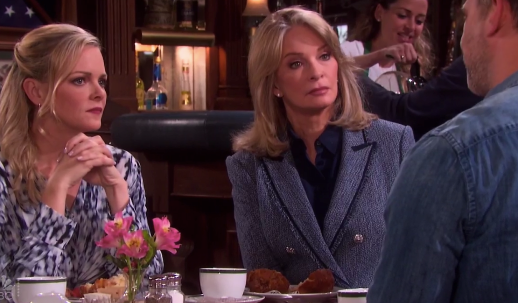 Belle and Marlena learn Eric is leaving on Days of our Lives