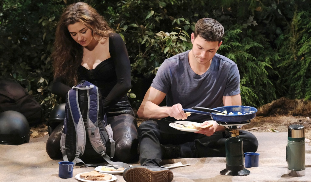 Ben and Ciara camp on Days of Our Lives