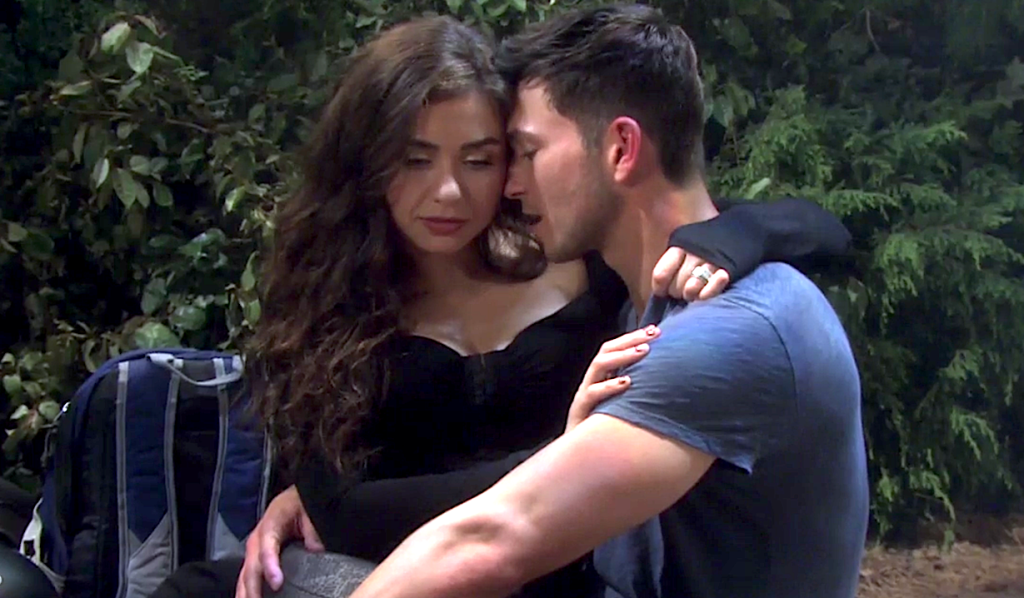 Ben and Ciara discuss babies while camping on Days of Our Lives