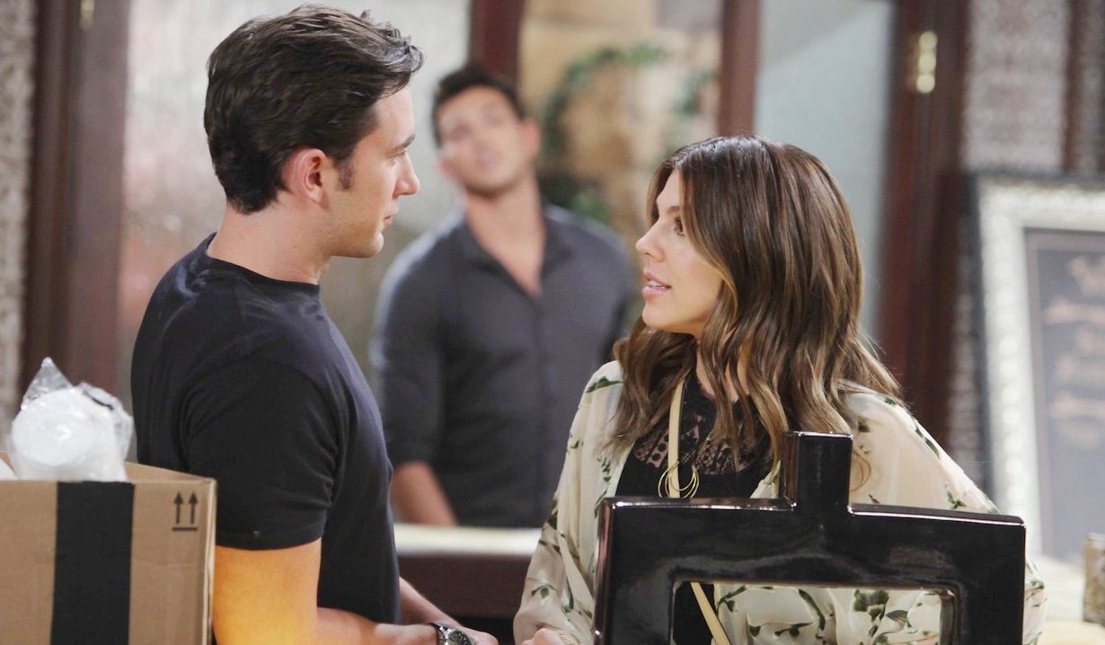Ben watches from the background as Chad and Abby talk on Days of Our Lives
