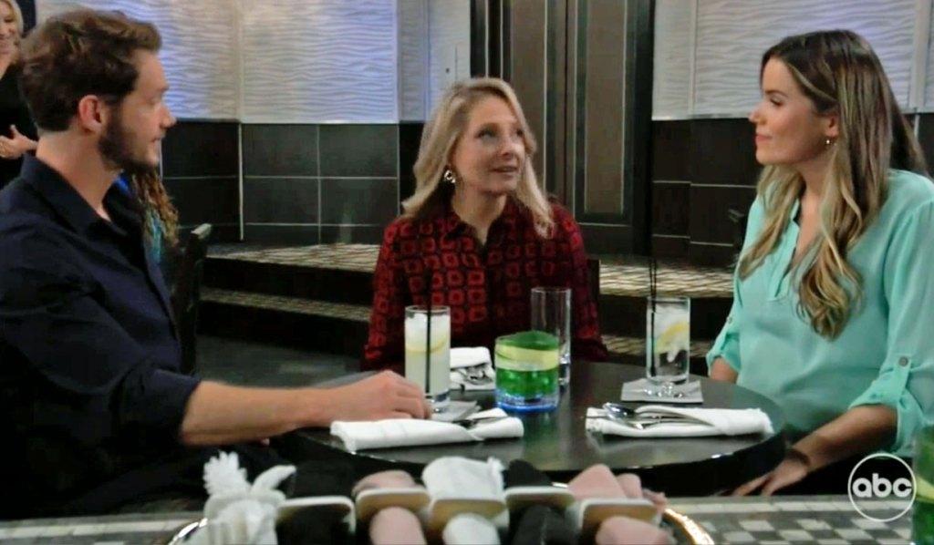 Sasha and Brando give Gladys news GH
