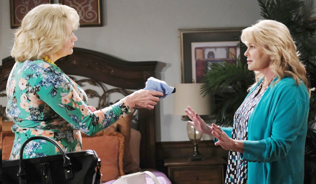 Calista holds Bonnie at gunpoint on Days of Our Lives