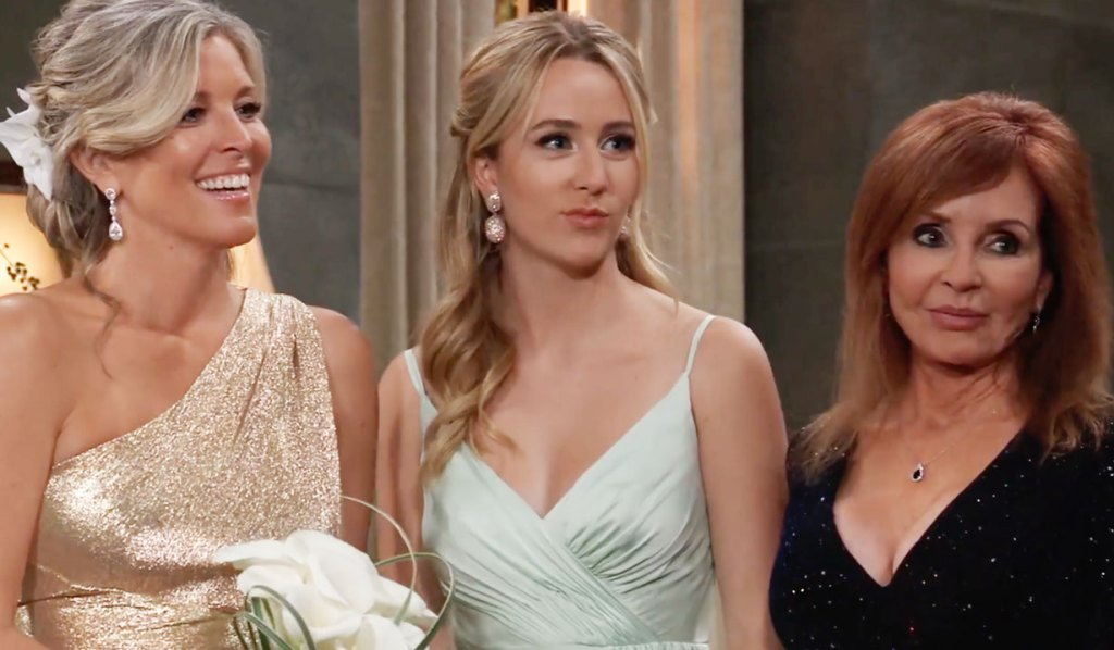 Carly, Joss and Bobbie at the wedding GH