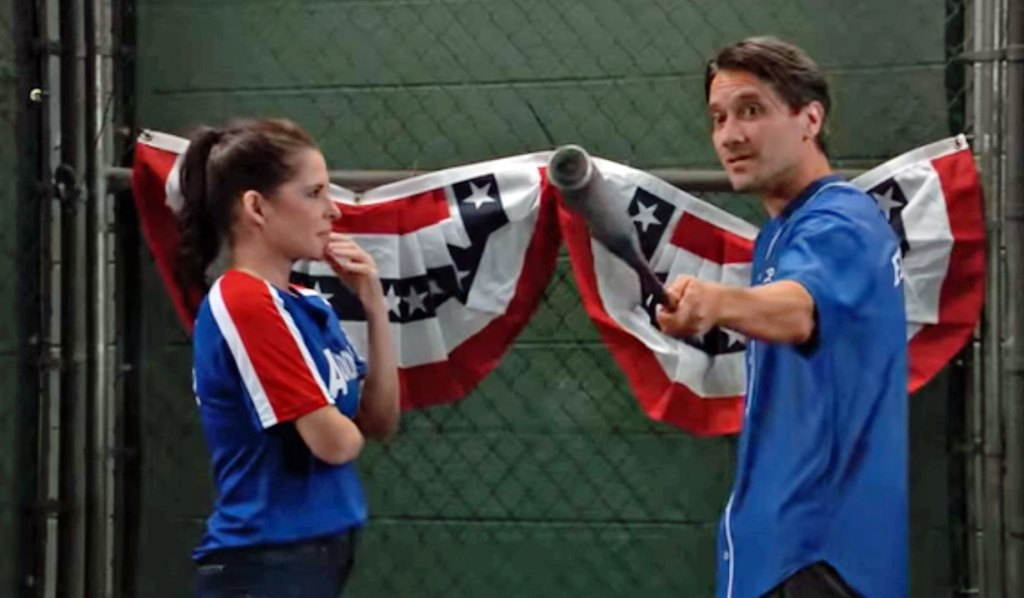 Dante and Sam in batting cage GH