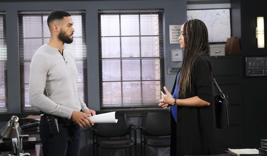 Lani faces Eli at the SPD on Days of our Lives