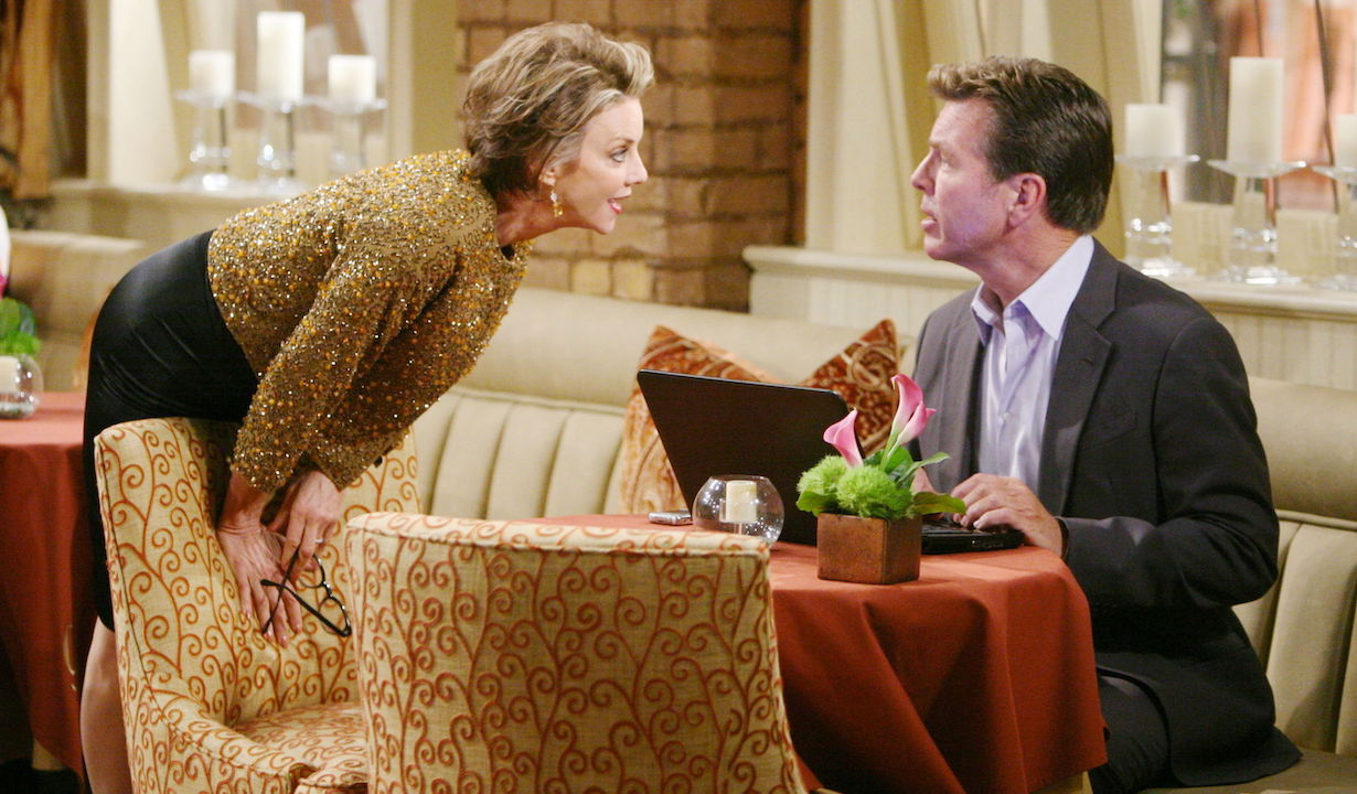 """Judith Chapman, Peter Bergman """"The Young and the Restless"""" Set CBS television City Los Angeles 05/12/11 ©Howard Wise/jpistudios.com 310-657-9661 Episode # 9674 U.S. Airdate 06/16/11"""