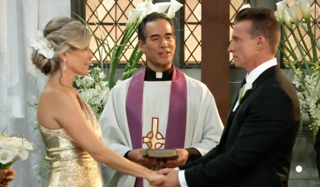 Jason and Carly at the altar GH