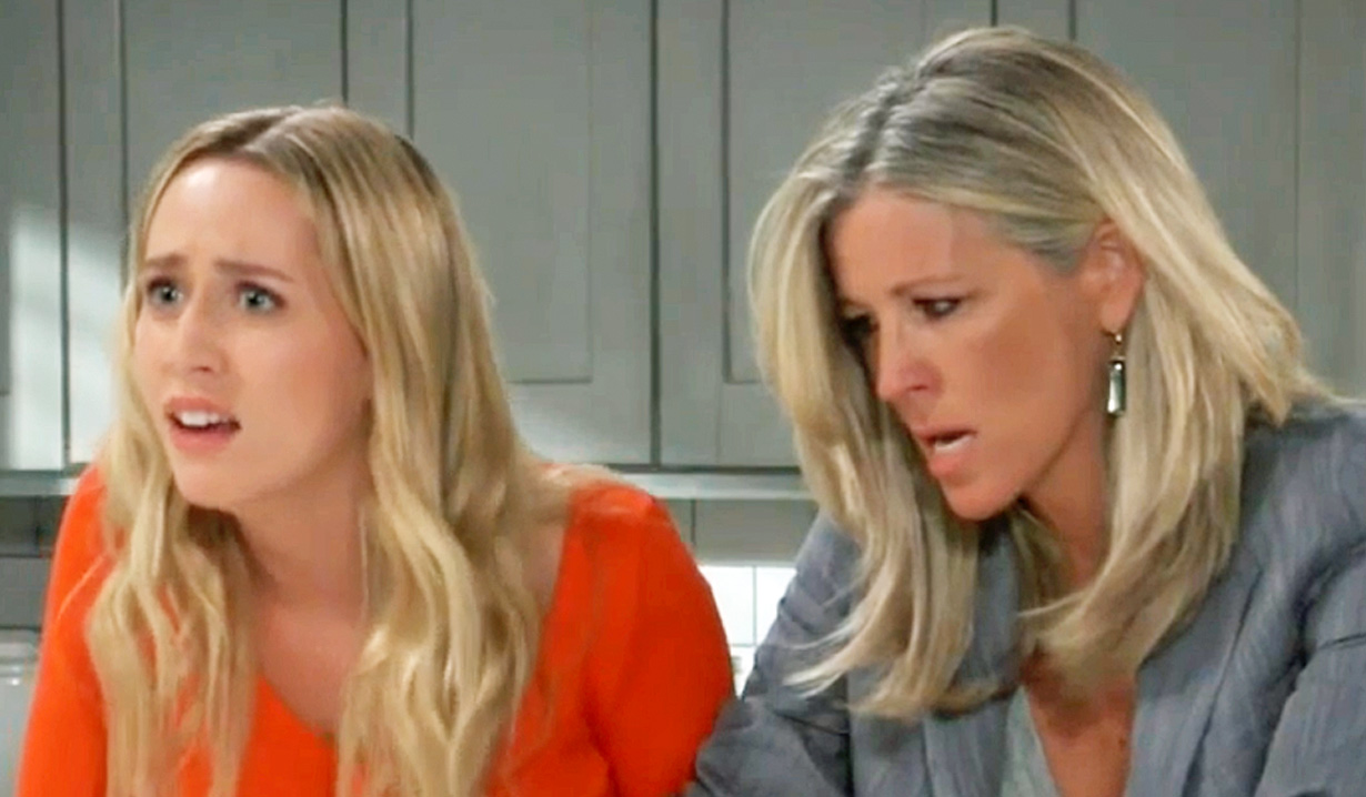 Joss and Carly are stunned by Maxie's news GH
