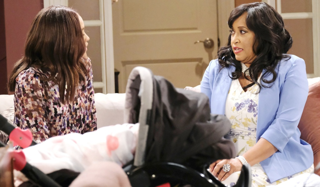 Lani and Paulina talk at Paulina's place on Days of Our Lives