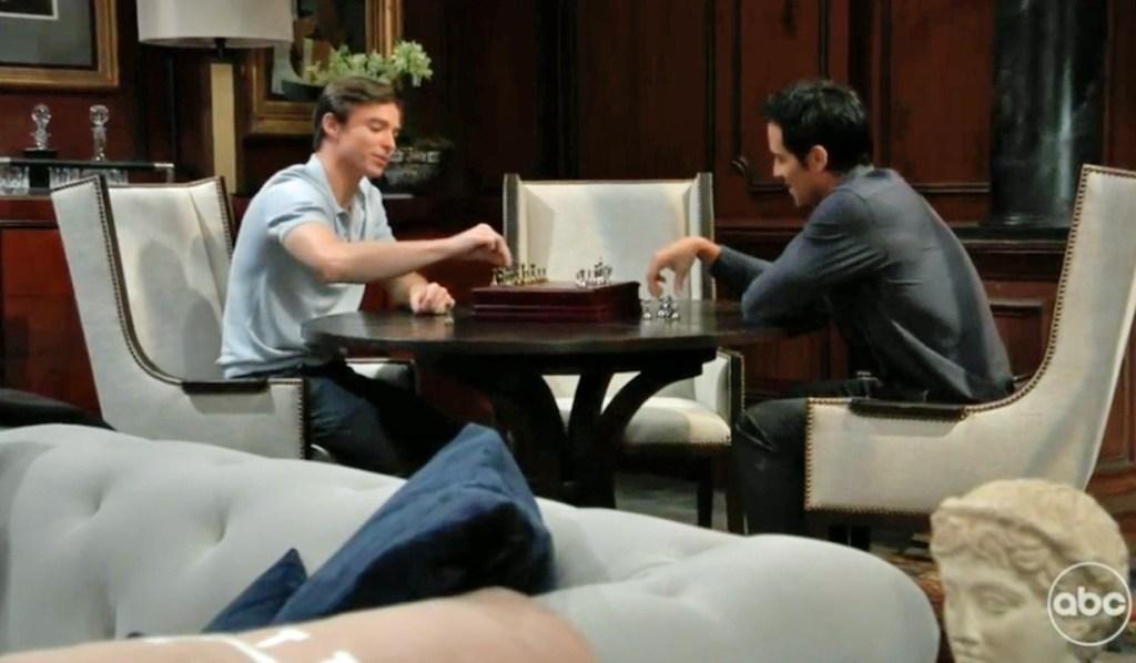 Nikolas and Spencer play Chess GH