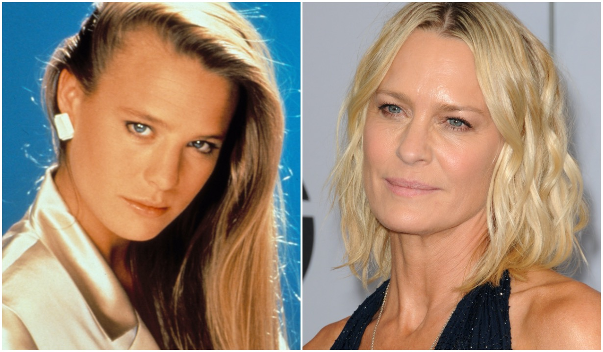 robin wright then now