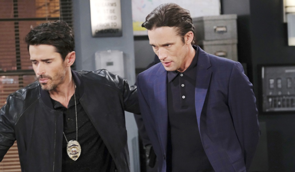Shawn brings Philip to the station on Days of our Lives