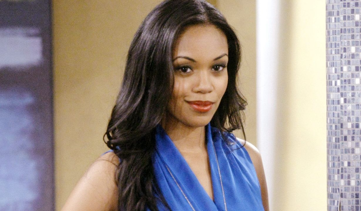 """hilary gallery Mishael Morgan""""The Young and the Restless"""" Set CBS television CityLos Angeles06/12/13© sean smith/jpistudios.com310-657-9661Episode # 10208U.S. Airdate 07/24/13"""
