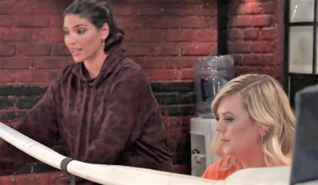 Maxie and Britt discuss Austin at gym General Hospital