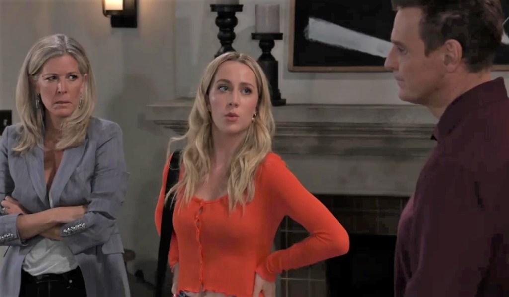 Carly, Joss and Jax talk Nina at his place General Hospital