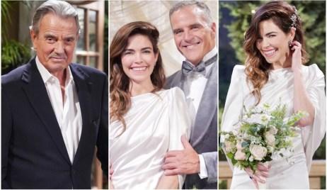 Eric Braeden, Victor, Amelia Heinle, Victoria, Richard Burgi, Ashland wedding collage Y&R