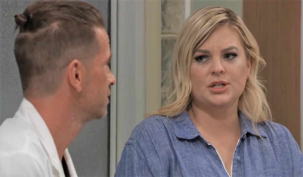 Maxie and Austin talk protection at General Hospital