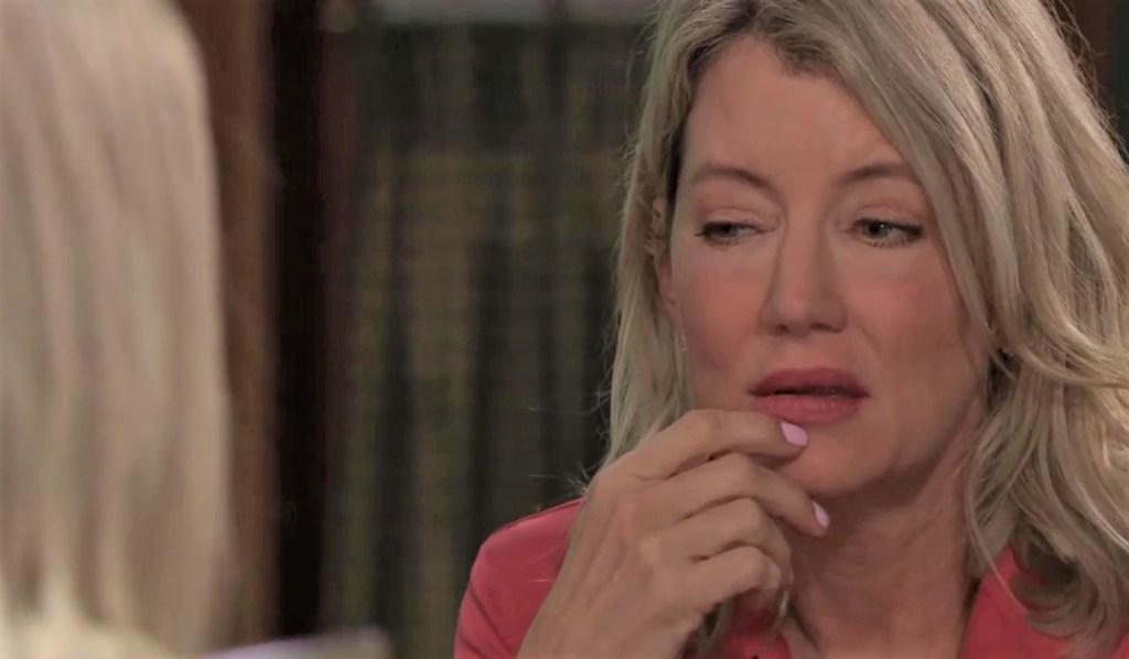 Maxie and Nina discuss Carly at Kelly's General Hospital