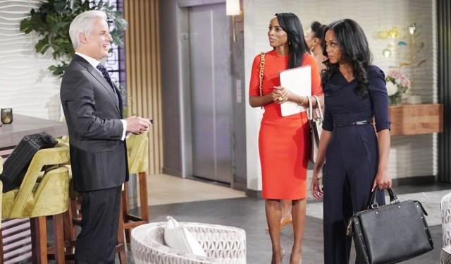Michael, Imani, Amanda Y&R