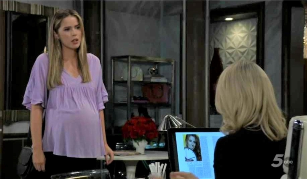 Nina and Sasha talk mistakes at Crimson General Hospital