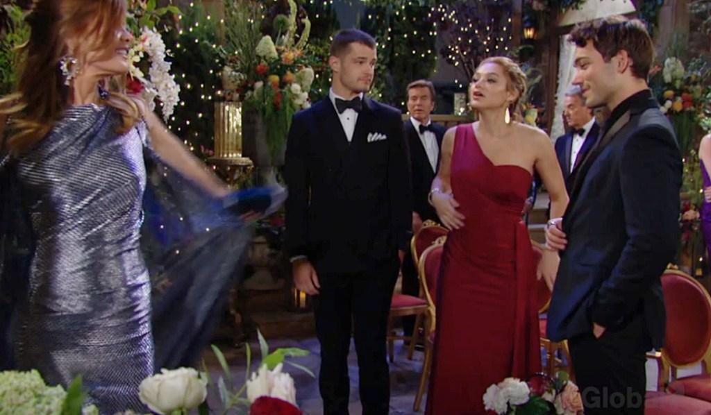 Phyllis gown Kyle, Summer, Noah Y&R