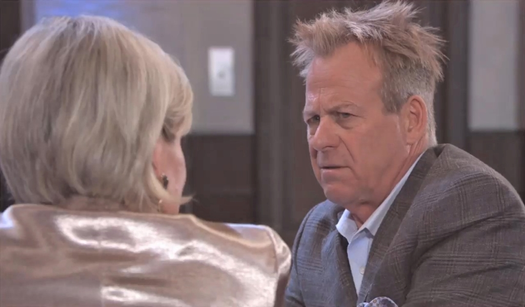 Scott and Ava discuss Nina at Metro Court General Hospital