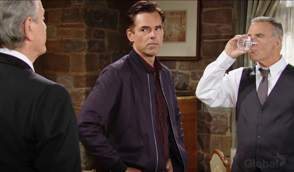 Victor, Billy, Ashland confrontation Y&R