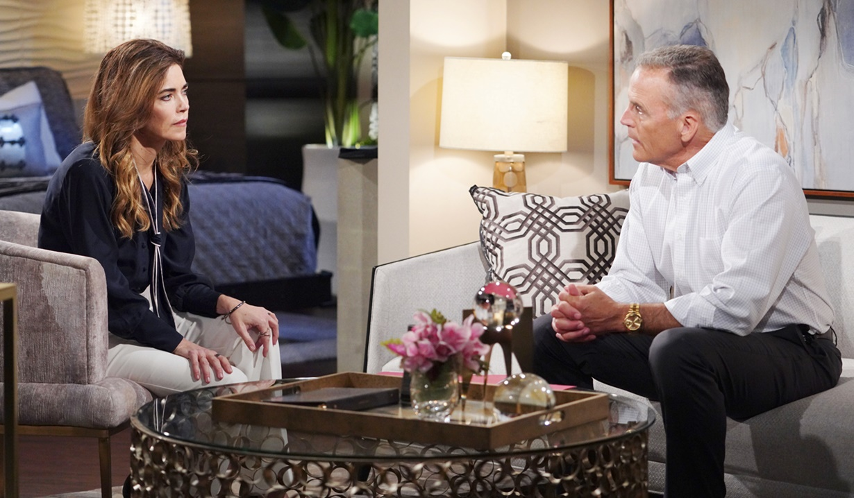"""Richard Burgi, Amelia Heinle """"The Young and the Restless"""" Set CBS television City Los Angeles 05/28/21 © Howard Wise/jpistudios.com 310-657-9661 Episode # 12146 U.S. Airdate 07/07/21"""