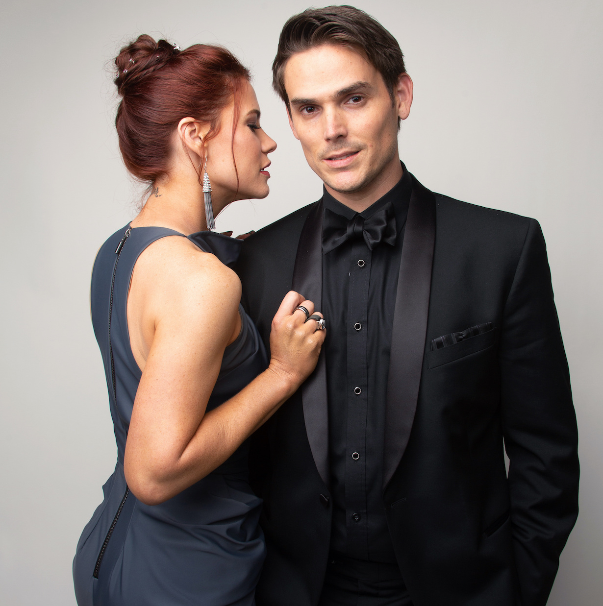 """Courtney Hope, Mark Grossman """"The Young and the Restless"""" Set CBS television City Los Angeles 09/10/21 © Howard Wise/jpistudios.com 310-657-9661"""