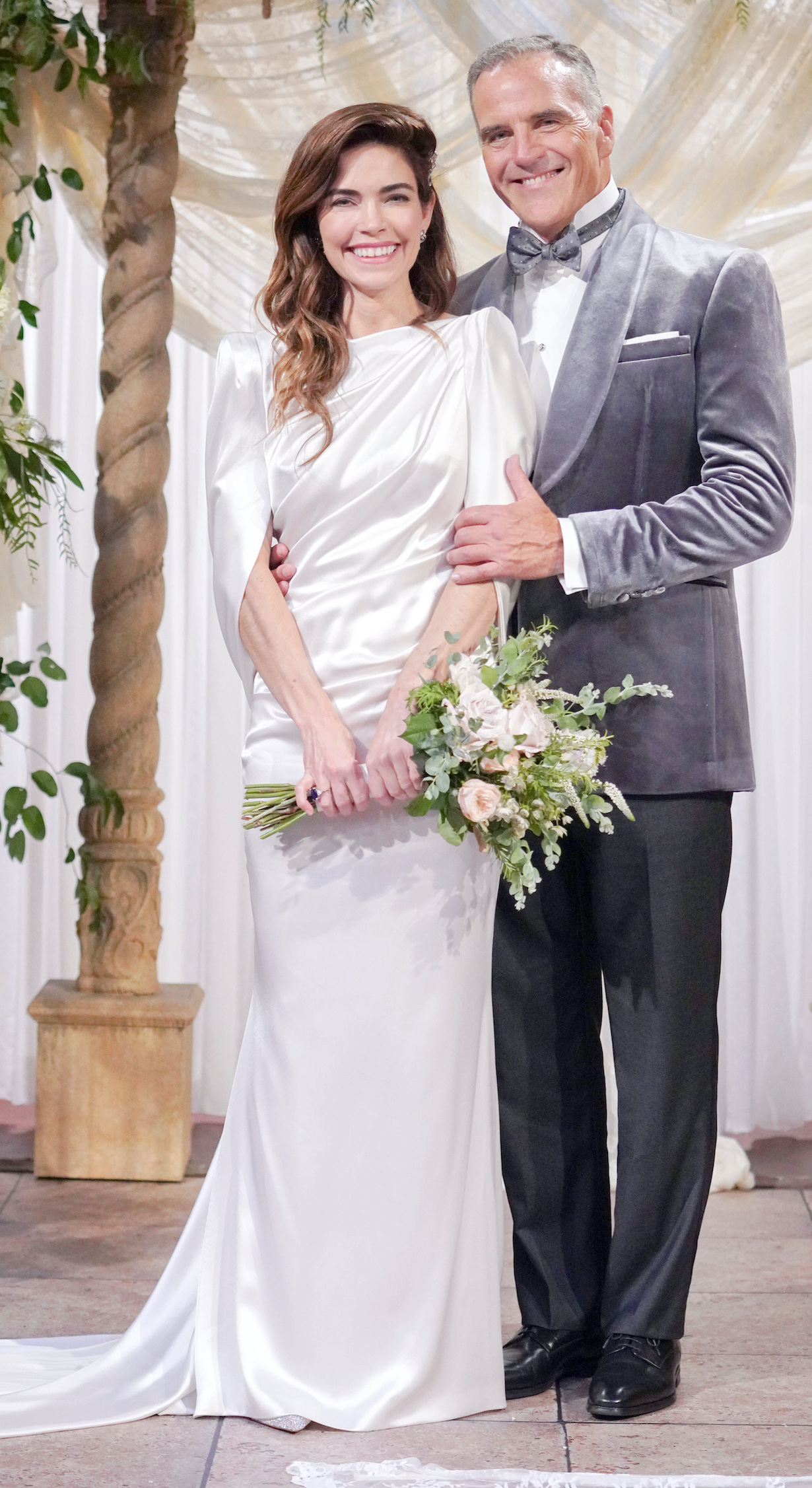 "Amelia Heinle, Richard Burgi ""The Young and the Restless"" Set Wedding CBS television City Los Angeles 09/03/21 © Howard Wise/jpistudios.com 310-657-9661"