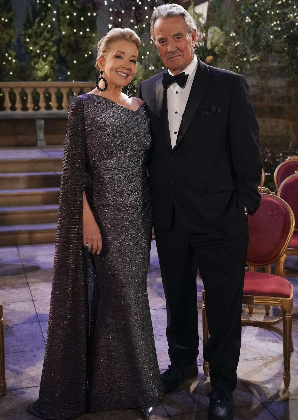 Victoria and Ashland's Wedding -- Coverage of the CBS series The Young and The Restless, scheduled to air on the CBS Television Network. Pictured (L-R): Melody Thomas Scott as Nikki Newman and Eric Braeden as Victor Newman.Photo: Sonja Flemming/CBS ©2021 CBS Broadcasting, Inc. All Rights Reserved.