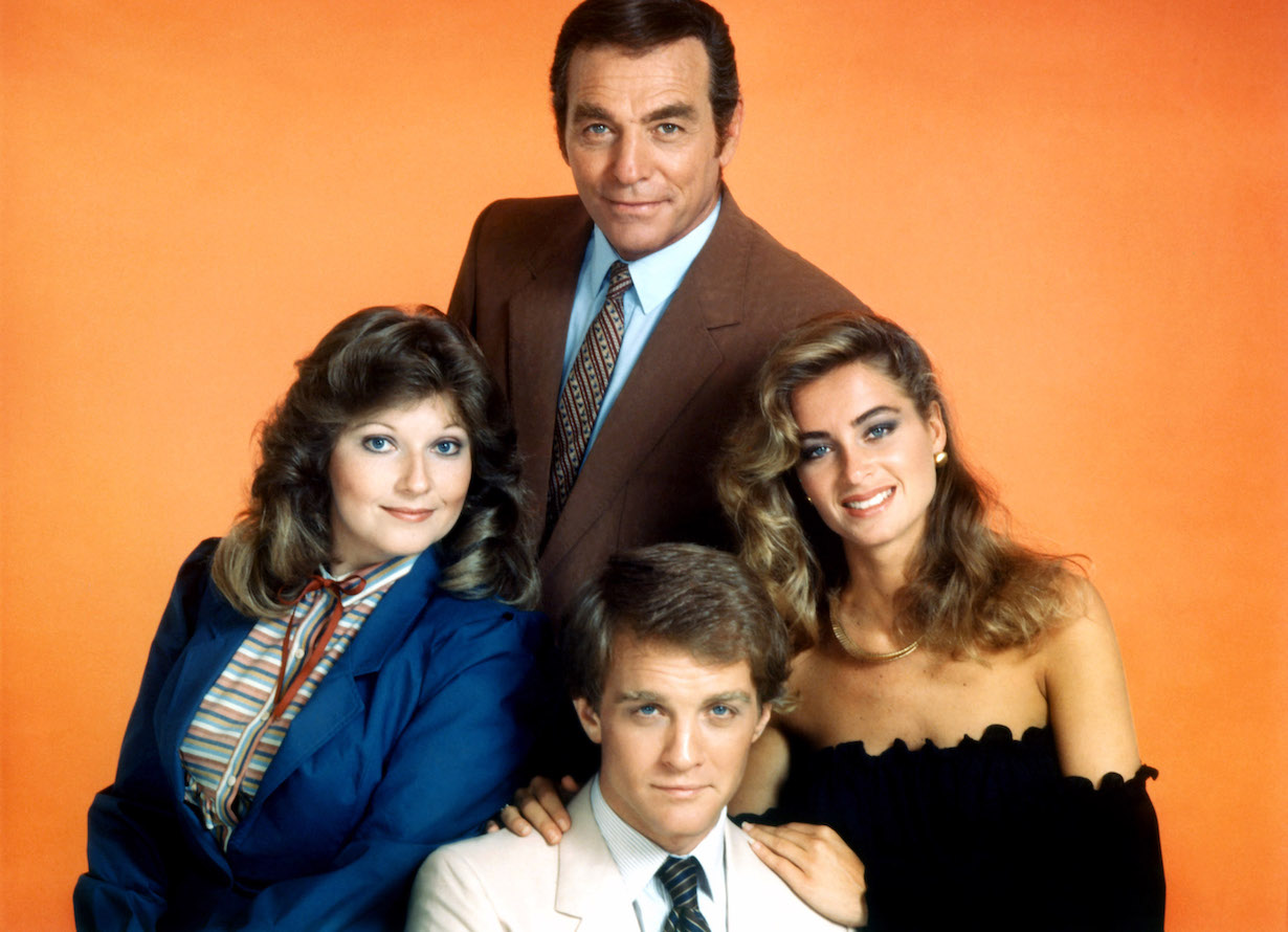 abbotts THE YOUNG AND THE RESTLESS, clockwise from top: Jerry Douglas, Eileen Davidson, Terry Lester, Beth Maitland, (ca. 1984), 1973-, ©CBS/courtesy Everett Collection