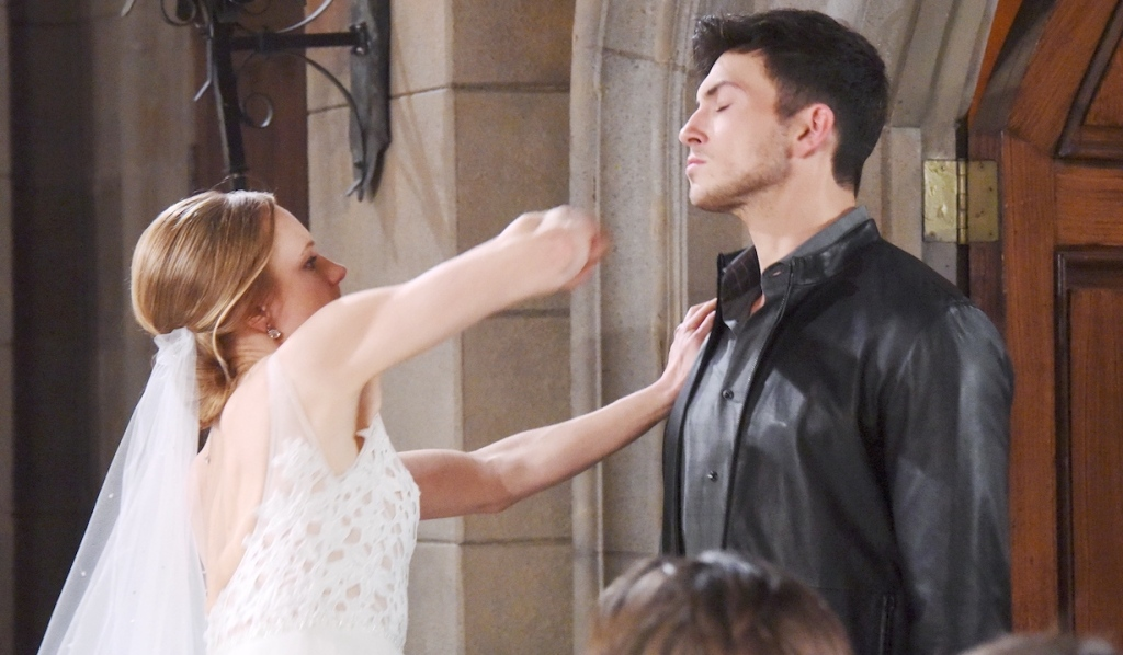 Abigail punches Ben at her church wedding on Days of Our Lives