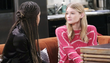 Allie talks to Lani at Nicole's place on Days of our Lives