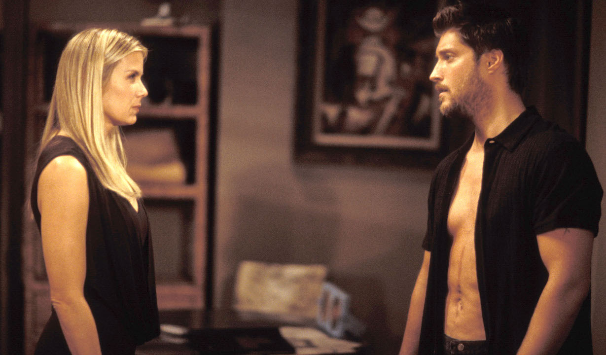 """brooke deacon Katherine Kelly Lang and Sean Kanan""""Bold and the Beautiful"""" SetCBS Television City10/29/02©Jesse Grant/JPI310-657-9661Episode# 3937"""