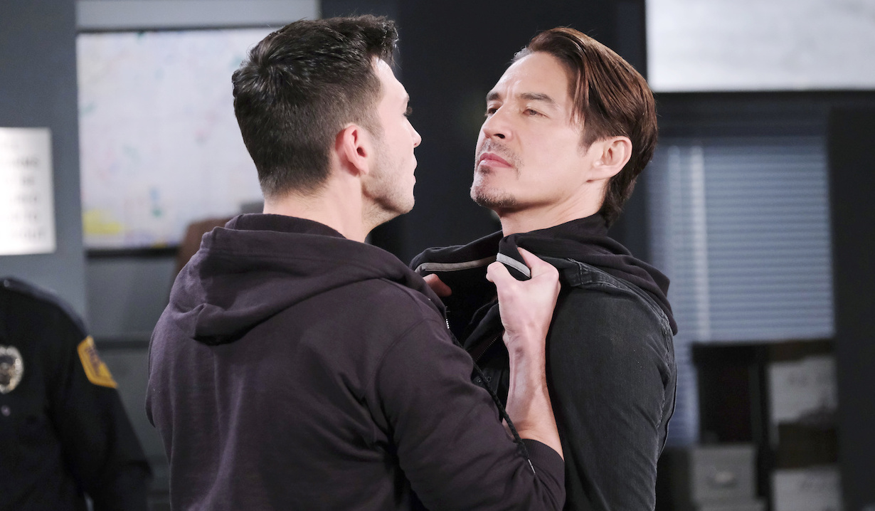 Ben grabs Vincent at the police station on Days of our Lives