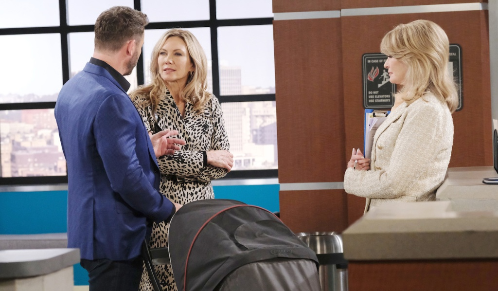 Brady and Kristen talk to Marlena at hospital on Days of our Lives