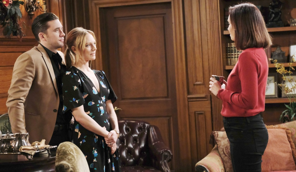 Chad and Abby face Gwen on Days of our Lives
