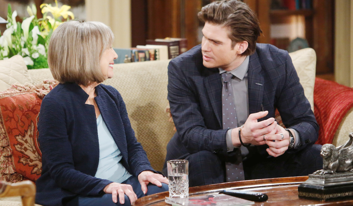 """Marla Adams, Tyler Johnson""""The Young and the Restless"""" Set CBS television CityLos Angeles02/21/20© Howard Wise/jpistudios.com310-657-9661Episode # 11906U.S. Airdate 04/1/20"""