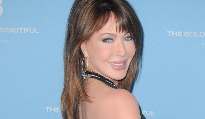 Hunter Tylo at arrivals for THE BOLD AND THE BEAUTIFUL 25th Silver Anniversary Party, 448 S. Hill Street, Los Angeles, CA March 10, 2012. Photo By: Dee Cercone/Everett Collection