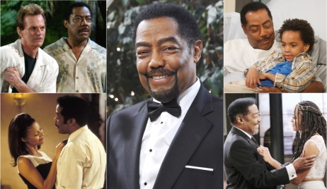 Photo collage of James Reynolds as Abe Carver on Days of Our Lives