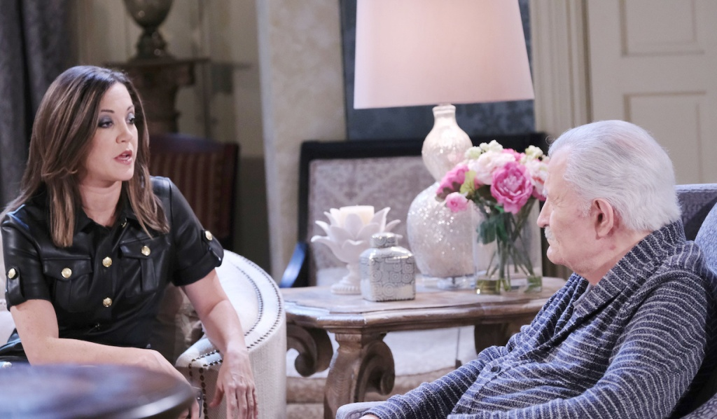 Jan talks with Victor at the mansion on Days of our Lives