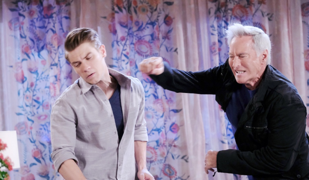 John punches Tripp on Days of Our Lives