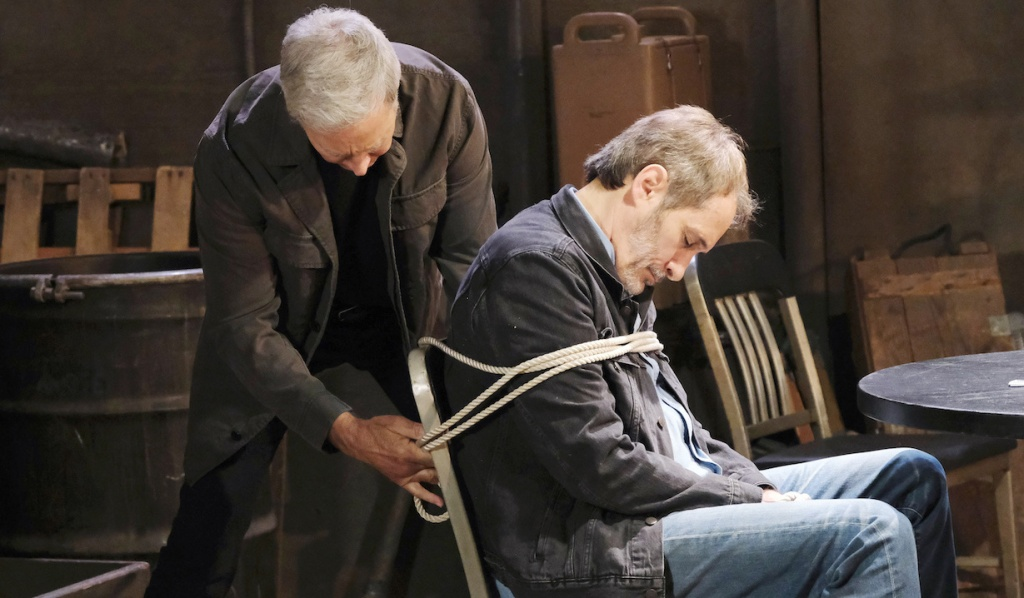 John restrains passed out Orpheus on Days of Our Lives