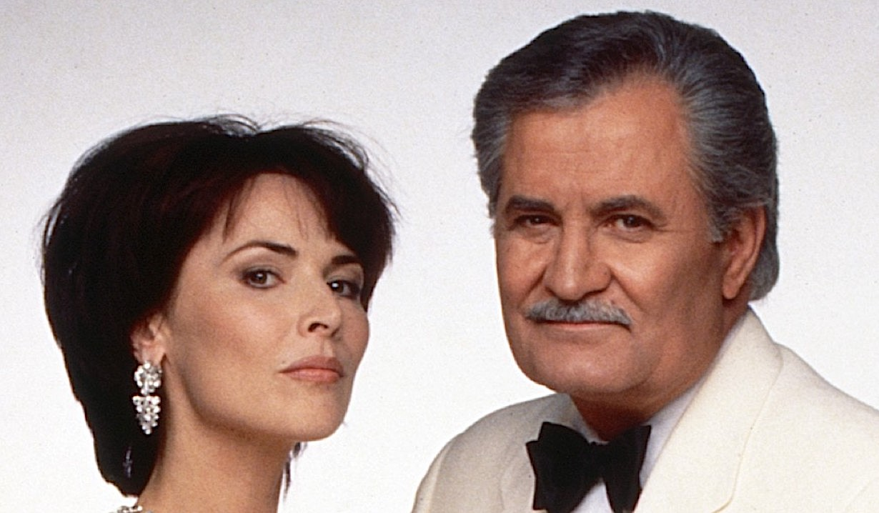 Lauren Koslow as Kate Roberts and John Aniston as Victor Kiriakis on Days of Our Lives